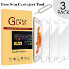 3x Tempered Glass Screen Protector Film Bubble Free for Apple iPhone 6 6s 7 Plus