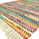 3 X 5, 4 X 6 Ft. Colorful Chindi Rag Rug Woven Decorative Bohemian Indian Boho D