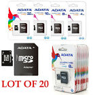 New Lot Of 20 ADATA Class 4 MicroSD Micro SD SDHC Memory ...