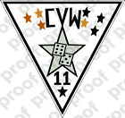 STICKER USN CARRIER AIR WING CVW 11
