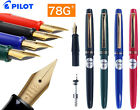 Fountain pen 22K Gold Plated F Nib Original PILOT 78G+ The best gifts  Free Ship