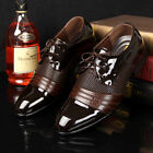 Mens Dress Formal Oxfords Leather Shoes Business casual Party Prom Fashion Shoes