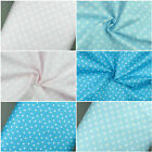 Premium 100% Cotton Fabric White Small and Big Stars, Star Print, Craft Material