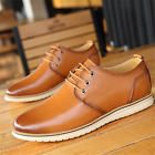 Men's Business casual oxfords Leather shoes Dress Formal European Style Fashion