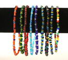 Multi-color Glass Beads Stretch Ankle Bracelet  image