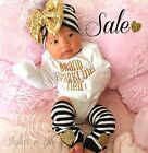 Cute Baby Girl Brand Sparkling New 3 Pcs GOLD Set
