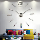 Home decor large mirror sticker wall clock modern design 3D DIY wall watch