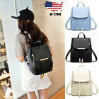 Women Girls Leather Uncomplicated Casual Backpacks Schoolbags Travel Shoulder Bag USPS
