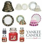 Yankee Candle Small Glass Light Shade and Tray Set Jar Mosaic Crackle Gold Gift