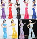 New Sexy Yoga & Belly Dance Costume Set Lace Top & Pants 9 Colors Free Shipping