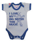BritTot Baby Grow | I Love My Big SISTER This Much | Boys Vest Baby Shower Gift
