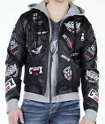 CIPO AND BAXX TRENDY CJ156 BLACK RIDER LEATHER MOTORCYCLE JACKET