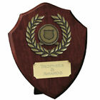 Wooden Shield Award, walnut or laurel, 2 sizes FREE ENGRAVING