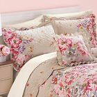 NWT BRYLANE HOME PILLOW  QUILTED ONE SHAM MULTI COLOR FLORAL/BEIGE  KING SIZE