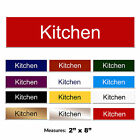 Kitchen Engraved Pub Hotel Door Sign + FREE CHOICE OF COLOURS 2 x 8 inch
