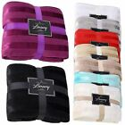 New Glossy Soft & Warm Sofa Bed Throws Luxury Throws  Cosy Fleece Blanket
