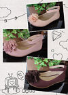 Party Flower Girl's Dress Shoes Comfy Chiffon Floral Topper Toddler Little Kids
