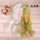 Ink Painting Flowers 2 colours stitching Chiffon Scarf New Women's Soft Wrap