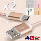2 Nylon USB-C Type-C 3.1 USB 2.0 Data Sync Charger Cable for Google Pixel Moto Z