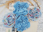 DENIM HairClip & Dress Pin Flower 7-8cm Fabric 3Types Njoyfull Crafts Multi List