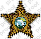 STICKER SHERIFF FLORIDA COUNTY BRZ B