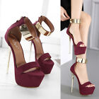 Sexy Womens Platform Gold Strappy High Stiletto Heel Open Toe Sandals Party Shoe