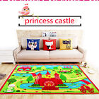 KIDS SOFT PRINCESS CASTLE RUG FLOOR CARPET CHILDREN BEDROOM NONSLIP PLAYROOM MAT
