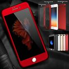 Hybrid Shockproof Full protection Slim Hard Tempered Glass Case For iPhone 5 6 7