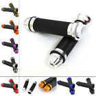 """Motorcycle Handle Bar Hand Grips 7/8"""" CNC W/ Rubber Gel Universal"""