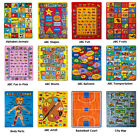 KIDS CHILDREN SCHOOL CLASSROOM BEDROOM EDUCATIONAL RUG NON SKID GEL RUG (30 new)