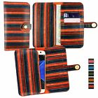 Vintage Stripes PU Leather Wallet Case Cover Sleeve Holder for Wolder Phones