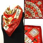 Ladies Fashion Silken Satin Square Scarf - Large 35 x 35