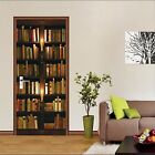 3D Bookshelf 46 Door Wall Mural Photo Wall Sticker Decal Wall AJ WALLPAPER AU