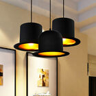 Contemporary Creative Chandeliers Hat Single Light Pendant Lamp in Black