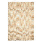 NEW Herringbone Cream & Natural Rug