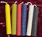 6 Handmade Beeswax Spell/Ritual Candles Pagan/Wiccan/Gothic