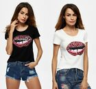 Summer Women Lady Fashion Tops Short Sleeve Shirt Casual Blouse Loose T-shirt