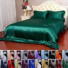 3pcs 19Momme 100% Pure Silk Ruffled  Duvet cover Pillow Case Set With Seam