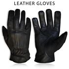 Mens Leather Chopper Gloves Full Finger Motorcycle Motorbike Driving CE MARKED
