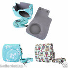 PU Leather Fuji Camera Bag Cover Shoulder Bag Case Protector f. Instax Mini 8