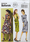BUTTERICK PATTERN DRESS LINED FITTED BODICE 3 DESIGNS EASY SIZE 14-22 # B5919