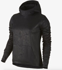 Nike All-Time Tech Embossed Vixen Pullover Hoodie Black $85 New Womens XS S M L