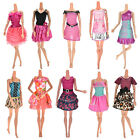 10 Pcs Party Wedding Dresses Clothes Gown Dolls Girls Random Style STUS