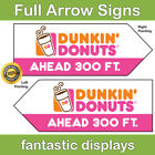 HEFTY Arrow Spinner Full Color Street Waving Sign Custom Traffic Pointer Print