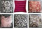 FILLED CUSHIONS WITH COVERS FLORAL PRINTED  BEDROOM COMFY LUXURY FAUX FUR MODERN