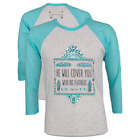 Southern Couture Womens Long Sleeve Christian T-Shirt: Feathers | Psalm 91:4