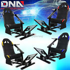 COCKPIT DRIVING SIMULATOR CAR/AUTO RACING SEAT GAMING CHAIR+GEAR MOUNT KIT