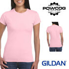 GILDAN Ladies 100% Plain Cotton Softstyle Womens T-Shirt | 30 COLOURS | 5 SIZES