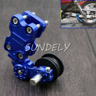 Blue Adjuster Chain Tensioner Bolt On Roller Motorcycle Chopper ATV Pit Bike UK