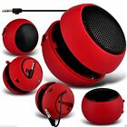 Mini Capsule Travel Portable Rechargeable Speaker with 3.5mm Jack Plug✔RED